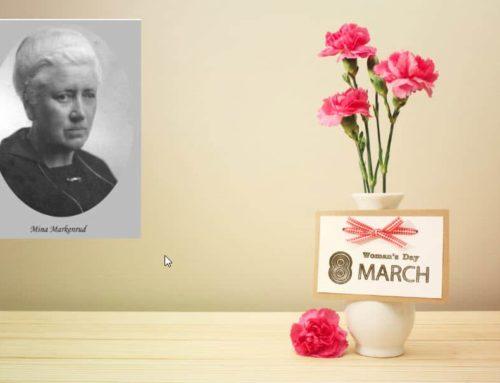 En kvinne verdt å minne. 8. mars – Mina Markenrud